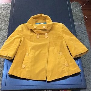 Tulle Yellow corduroy swing jacket